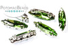 Potomac Crystal Slim Navettes - Grass 4x15mm