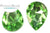 Potomac Crystal Pear Drop - Peridot 13x18 mm