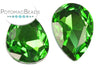 Potomac Crystal Pear Drop - Grass 13x18 mm