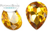 Potomac Crystal Pear Drop - Topaz 13x18 mm