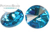 Potomac Crystal Rivoli - Aqua 14mm Pack of 2