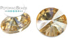Potomac Crystal Rivoli - Light Colorado Topaz 14mm Pack of 2