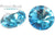 Potomac Crystal Rivoli - Aqua 12mm Pack of 2