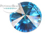 Potomac Crystal Rivoli - Aqua 18mm Pack of 2