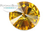 Potomac Crystal Rivoli - Topaz 18mm Pack of 2