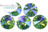 Potomac Crystal Rivoli - Peridot AB 10mm Pack of 5
