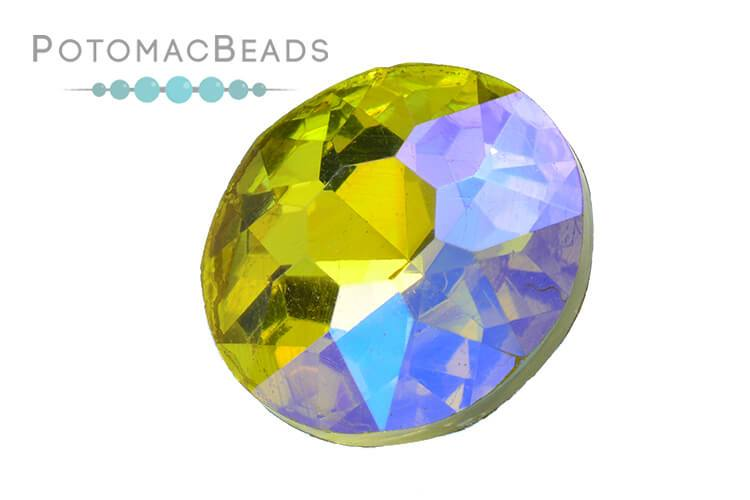 Potomac Crystal Fancy Stone - Citrine AB 27mm Round