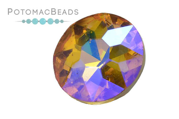 Potomac Crystal Fancy Stone - Topaz AB 27mm Round