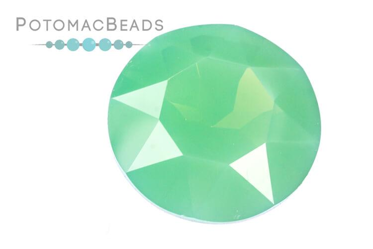 Potomac Crystal Fancy Stone - Green Opal 27mm Round