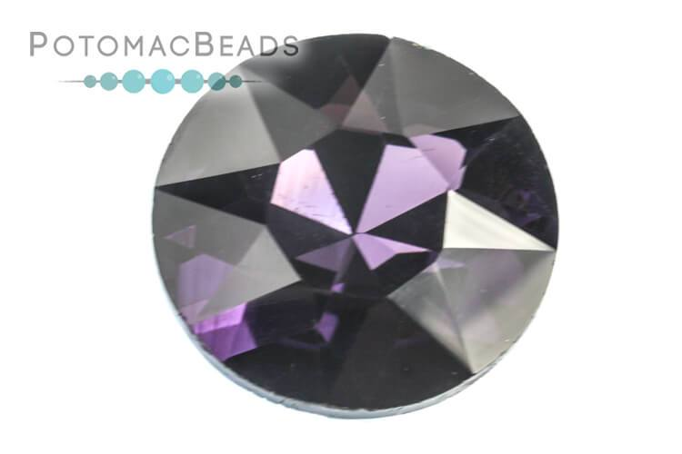 Potomac Crystal Fancy Stone - Violet 27mm Round