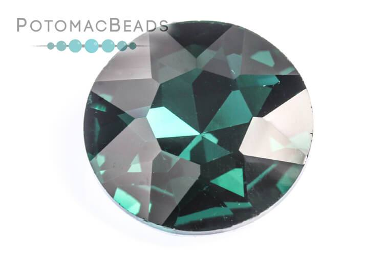 Potomac Crystal Fancy Stone - Emerald 27mm Round