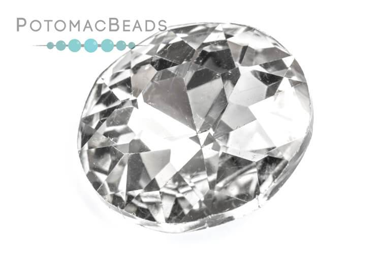 Potomac Crystal Fancy Stone - Crystal 27mm Round