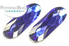 Potomac Crystal Long Ovals - Cobalt 9x27mm