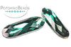Potomac Crystal Long Ovals - Emerald 9x27mm