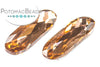 Potomac Crystal Long Ovals - Light Peach 9x27mm