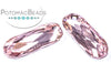 Potomac Crystal Long Ovals - Light Rose 9x27mm