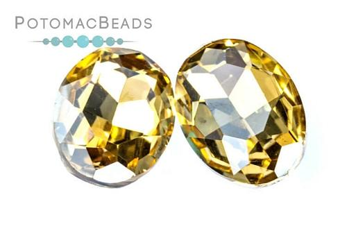 Potomac Crystal Ovals - Lt Colorado Topaz 13x18mm