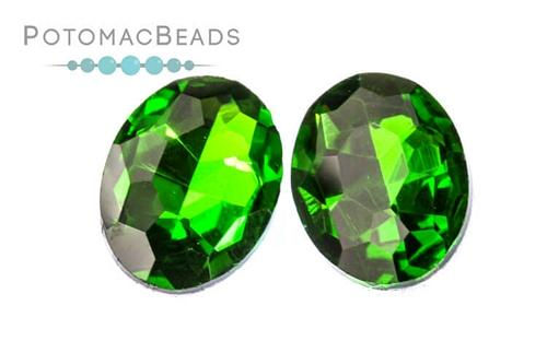 Potomac Crystal Ovals - Grass 13x18mm