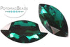 Potomac Crystal Navettes - Emerald 13x27mm