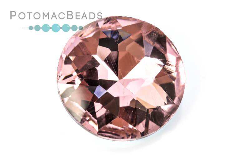 Potomac Crystal Fancy Stone - Rose 27mm Round
