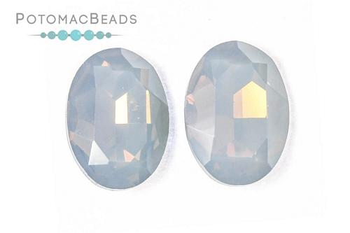 Potomac Crystal Ovals - Black Diamond Opal 13x18mm