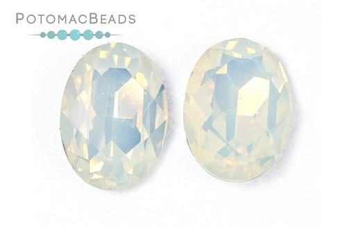 Potomac Crystal Ovals - White Opal 13x18mm