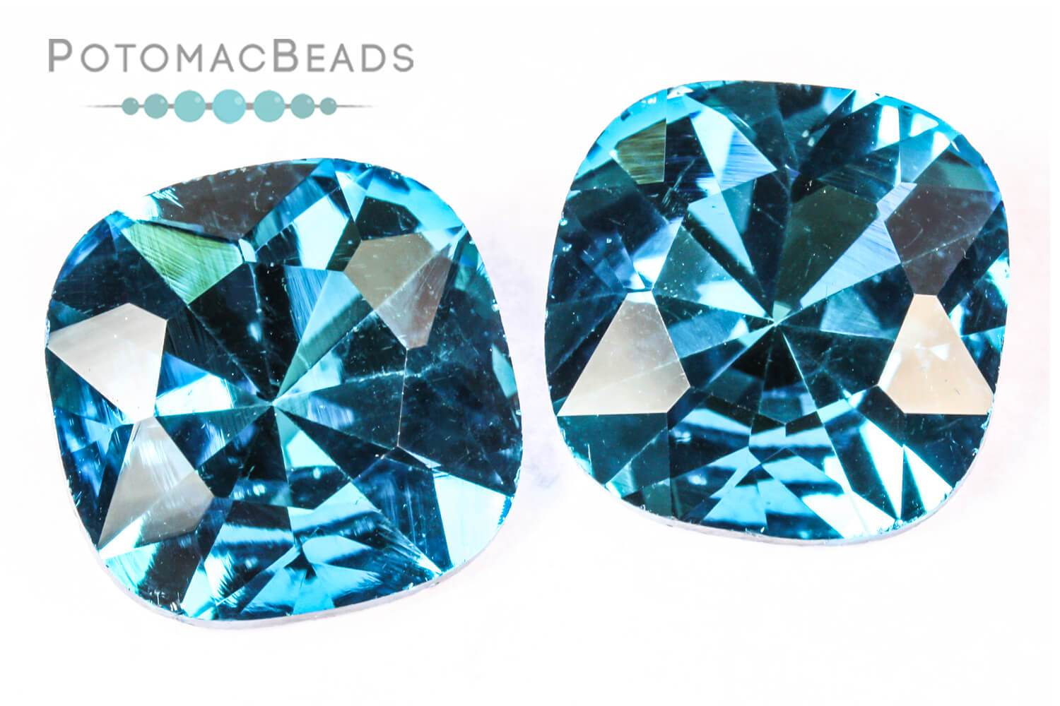 Potomac Crystal Cushions - Aqua 18mm