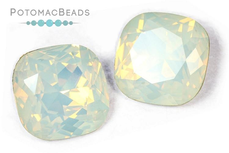 Potomac Crystal Cushions - White Opal 18mm