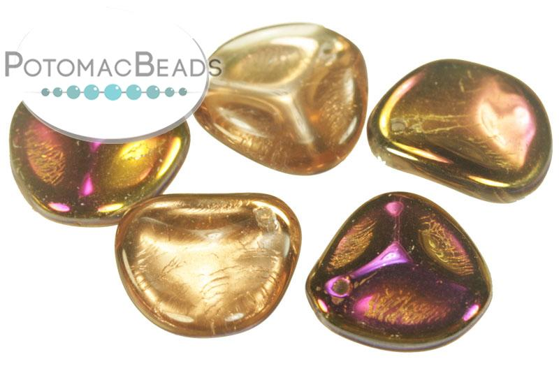 Czech Rose Petals - Crystal Sliperit 14x13mm