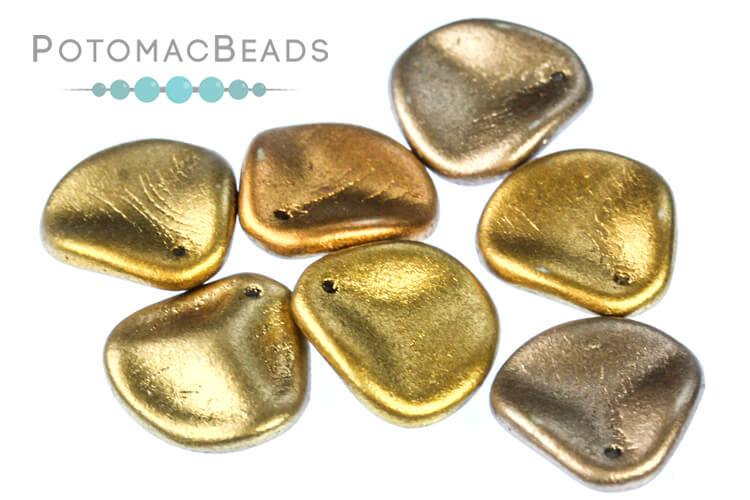 Czech Rose Petals - Metallic Mix 14x13mm