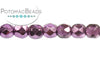 Czech Faceted Round - Amethyst Metallic 3mm