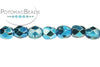 Czech Faceted Round - Aqua Metallic 3mm