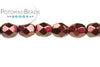 Czech Faceted Round - Metal Burgundy Fire 3mm