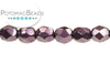 Czech Faceted Round - Metal Dark Magenta 3mm