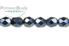 Czech Faceted Round - Metallic Navy Blue 3mm