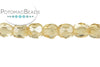 Czech Faceted Round - Crystal Champagne Luster 3mm