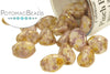 Pinch Beads - White Lila Gold Luster
