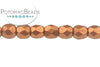 Czech Faceted Round - Copper 3mm