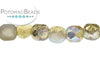 Czech Faceted Round - Etched Golden Rainbow 4mm