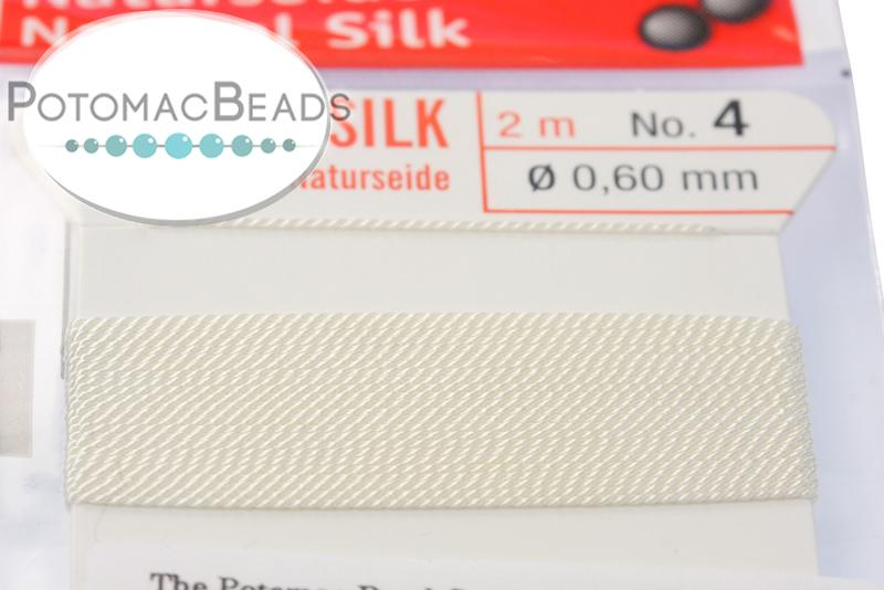 Silk Cord with Needle - 4 White