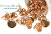 Button Bead - Crystal Capri Gold Full