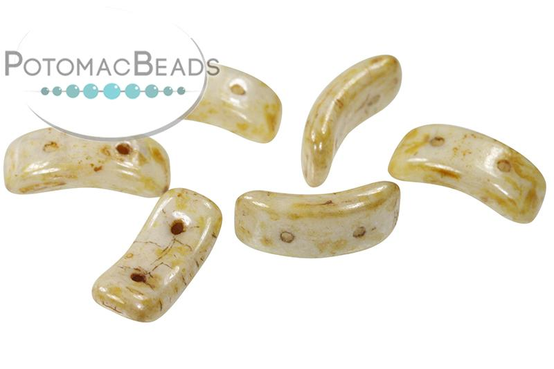 Bow Bead - White Picasso Honey