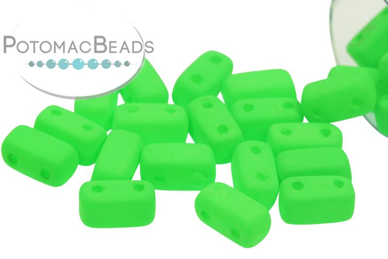 2-Hole Brick - Neon Green