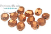 Faceted RounTrio® - Copper 6mm