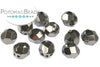 Faceted RounTrio® - Crystal Full Chrome 6mm