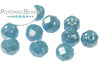 Faceted RounTrio®- Turquoise Shimmer 6mm