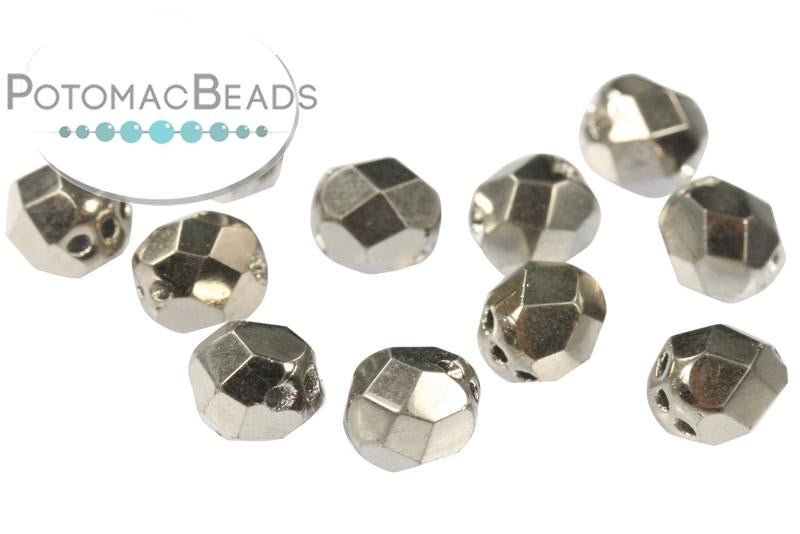 Faceted RounTrio® - Crystal Argentic Full 6mm