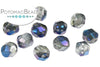 Faceted RounTrio®- Crystal Blue Flare (Pack of 50) 6mm