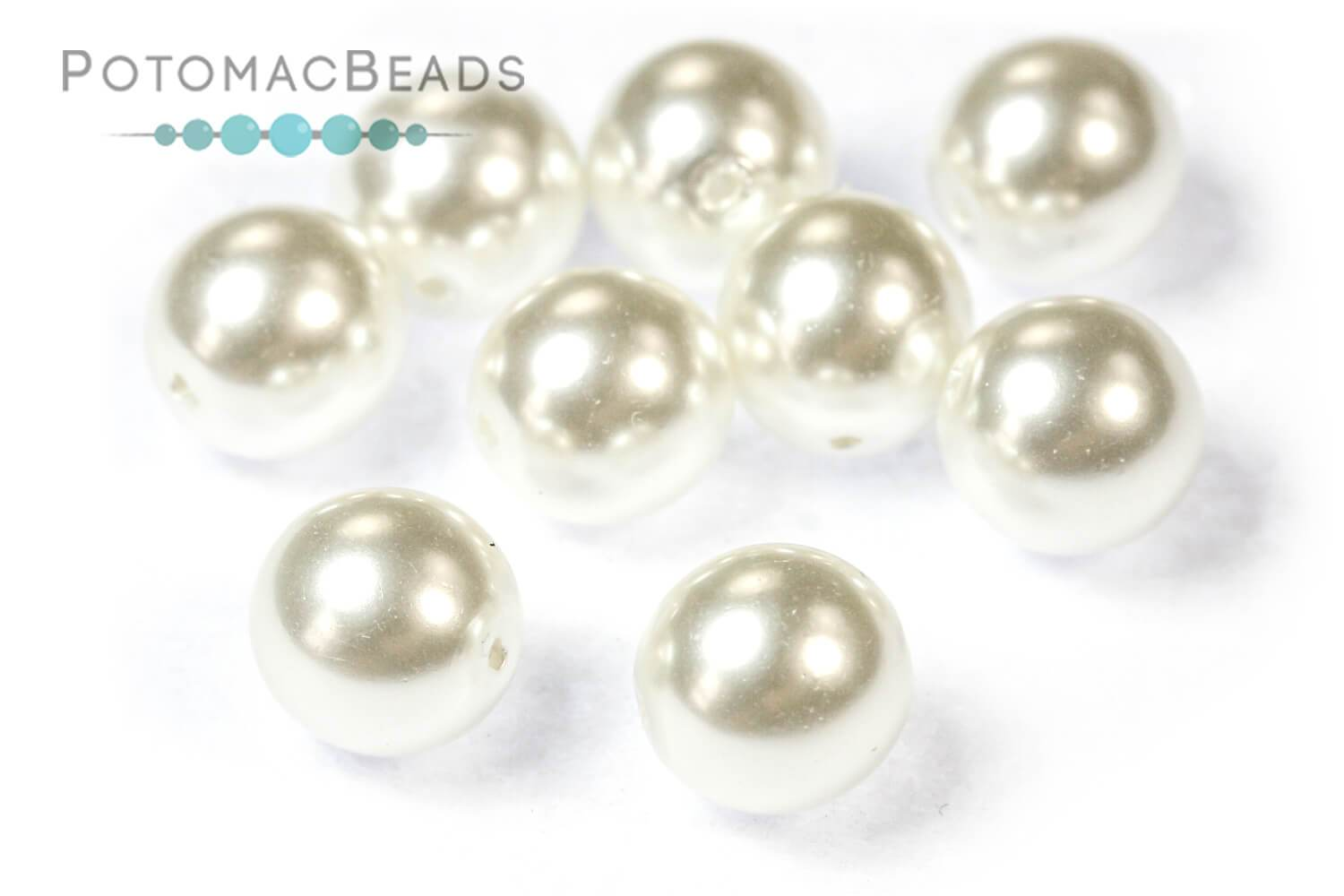 Czech Pearls - Bright White Shiny 8mm