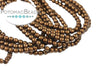 Czech Pearls - Brown Satin Matted 2mm